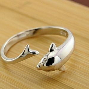 925 Sterling Silver Dolphin Ring 💜